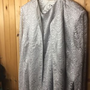 Vintage Cachet Formal Dress With Jacket Silver 16